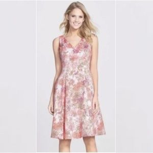 Adrianna Papell Fit & Flare Abstract Floral Dress